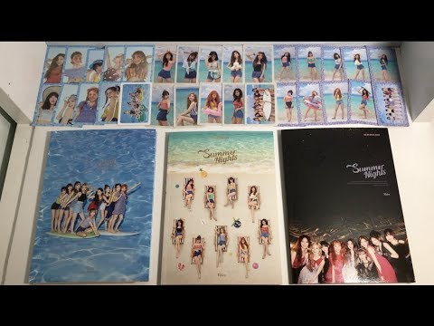 """TWICE """"Summer Nights"""" Unboxing (2nd Special Album) All Versions!"""