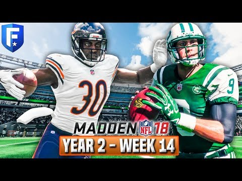 Madden 18 Bears Franchise Year 2 - Week 14 @ Jets   Ep.33
