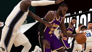 NBA Today 7/25 - Los Angeles Lakers vs Orlando Magic Full Game Highlights | SCRIMMAGE (NBA 2K)