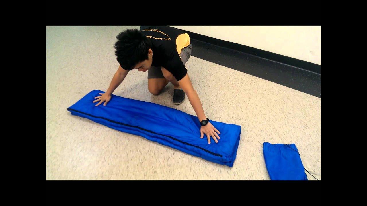 How to fold your sleeping bag
