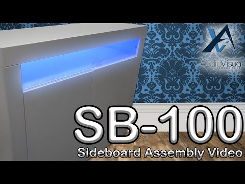 SB-100 Assembly Video - High Gloss Sideboard Cabinet with LED