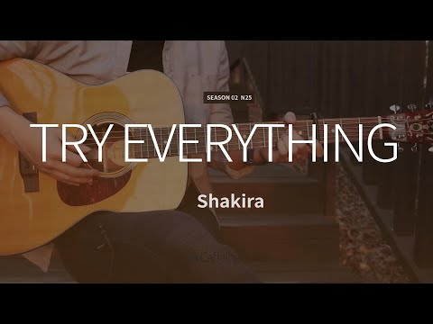 Try Everything - Shakira | Zootopia OST | Guitar Cover, Lesson, Chords
