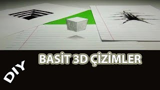 Basit 3D Çizimler | Simple 3D Illustrations | Diy