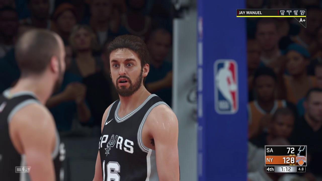 Spurs Vs Knicks Detail: NBA 2K18 Knicks V Spurs Sweet Vengeance #3