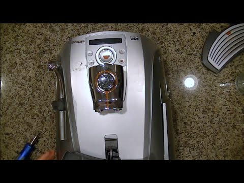 how to take apart a saeco talea ring plus espresso machine for repair youtube. Black Bedroom Furniture Sets. Home Design Ideas