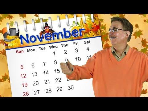 November  Calendar Song for Kids  Jack Hartmann