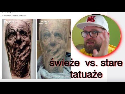 świeże Vs Stare Tatuaże Jak Się Zmieniają Projekt Ink