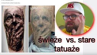 Świeże vs. stare tatuaże - jak się zmieniają | Projekt INK