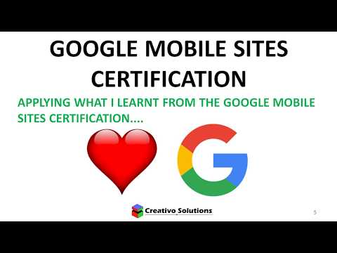 Google Mobile Sites - How to optimize a website for faster access on mobile devices