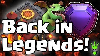 BACK IN LEGENDS! - TH10 Push Series - Clash of Clans - Baby Dragon Trophy Pushing