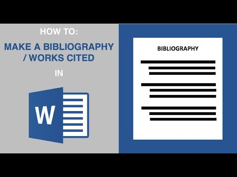 How To Make A Bibliography In Microsoft Word