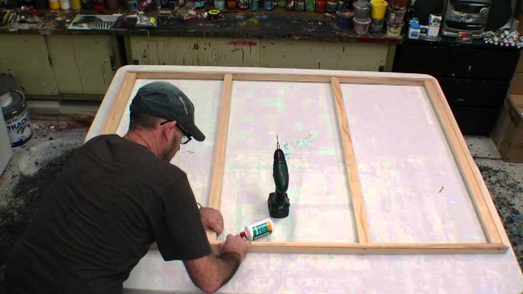 how to make a stretch canvas free lesson learn how to make a large canvas art youtube. Black Bedroom Furniture Sets. Home Design Ideas