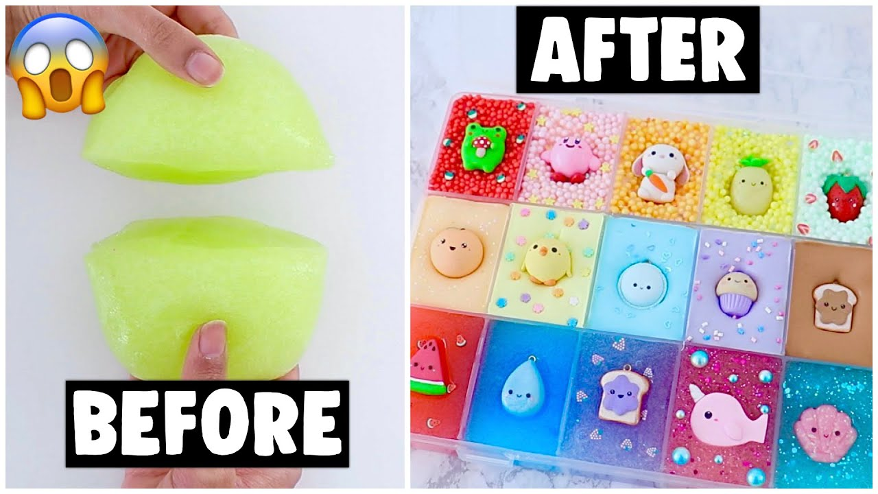 18 EXTREME SLIME PALETTE MAKEOVERS! *fixing my 2 year old slime*