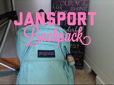 UPDATED: JANSPORT BACKPACK ORGANIZATION