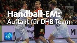 Deutsche Handball-Nationalmannschaft vor dem erstem EM-Spiel gegen die Niederlande