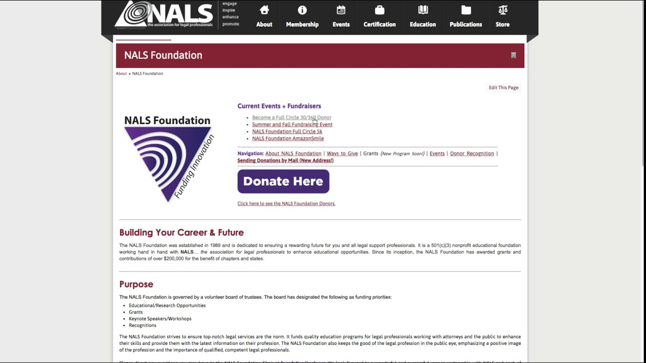 Nals Foundation Setting Up Recurring Donations Youtube