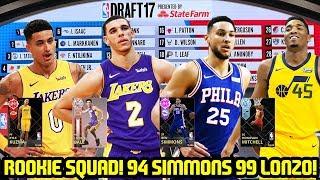 ALL ROOKIE SQUAD! NEW 94 SIMMONS, 99 LONZO, RUBY KUZMA! NBA 2K18 MYTEAM GAMEPLAY