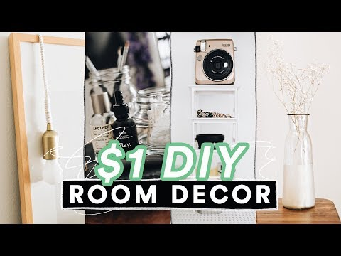 $1 DIY ROOM DECOR FOR 2019 - Super Easy + Aesthetic // Lone Fox