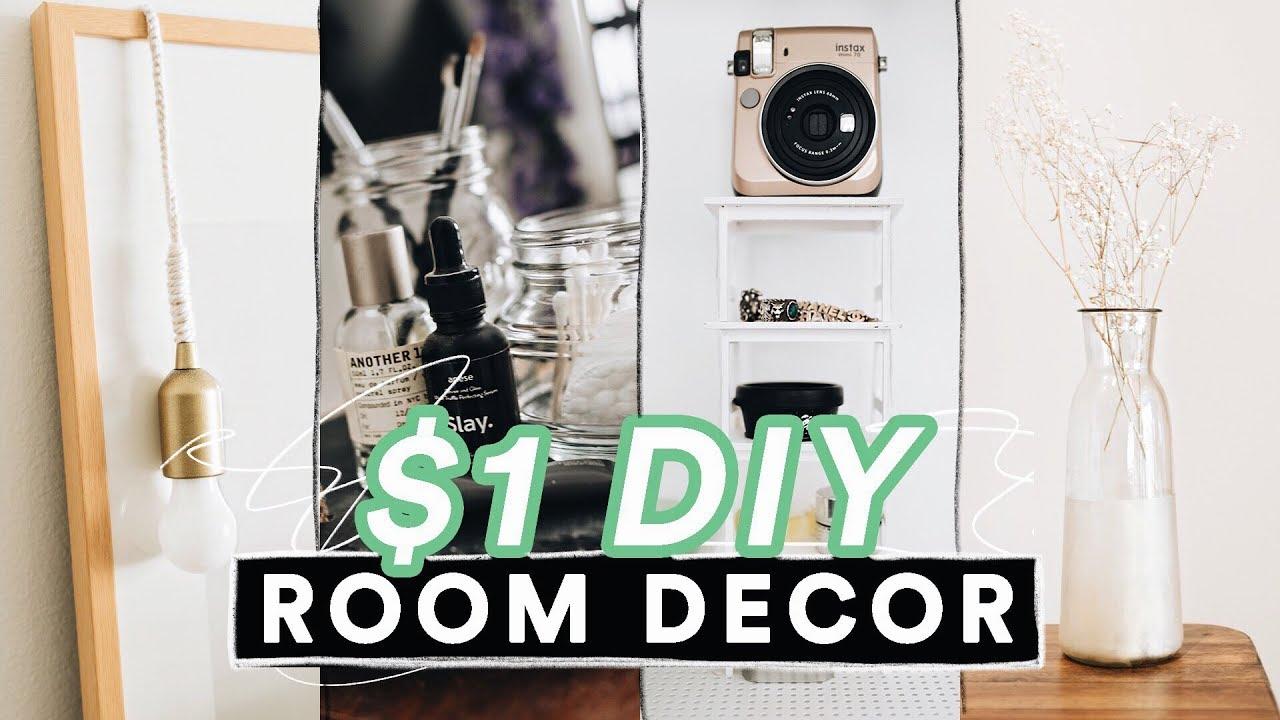 $1 DIY ROOM DECOR FOR 2019 - Super Easy + Aesthetic ...
