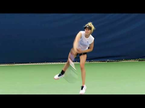 Toronto - Rogers Cup 2017 - Genie Bouchard Practicing August 7, 2017 (2)