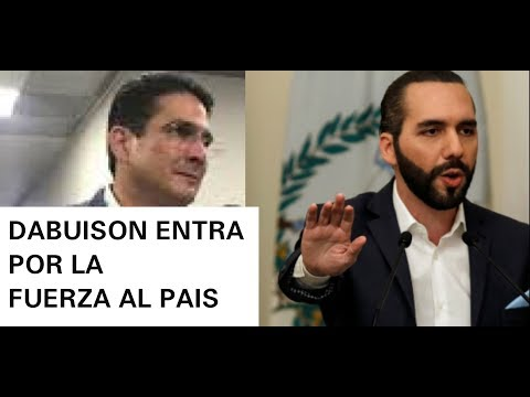 DABUISON ANUNCIA ENTRAR AL PAIS POR TIERRA PARA RECIBIR EL DINERO DE NAYIB