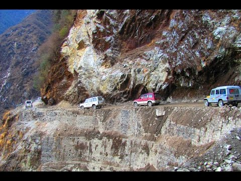 Most Dangerous Road In India Way To Nathula Pass Youtube