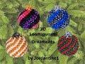 New 3D Loomigurumi / Amigurumi Christmas Ball Spiral Ornament - Rainbow Loom - Rubber Band Crochet