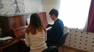 Рабочий процесс обучения игры на фортепиано