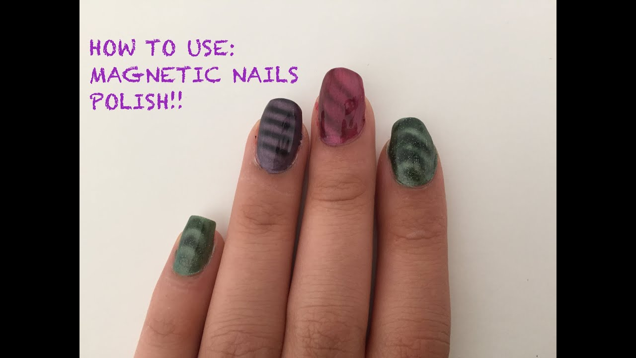 HOW TO USE: Magnetic Nail Polish - YouTube
