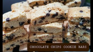 CHOCOLATE CHIPS COOKIE BARS | CAKE BARS (Baking and Packaging) | HOW TO BAKE CHOCOLATE COOKIE BAR
