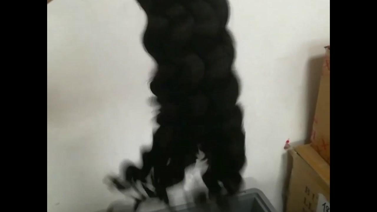 Exotic wave human hair bundles