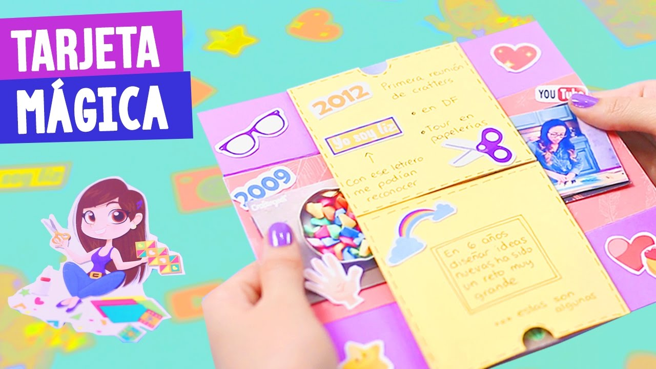 TARJETA MÁGICA DE CUMPLEA u00d1OS + MI HISTORIA DE YOUTUBE Semana Crafty Craftingeek YouTube