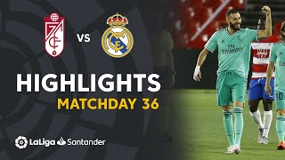 Highlights Granada CF vs Real Madrid (1-2)