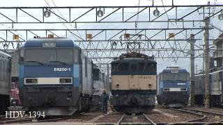 EH200 & EF64 国鉄色で賑わったJR貨物塩尻機関区篠ノ井派出 2007年頃 HDV 1394