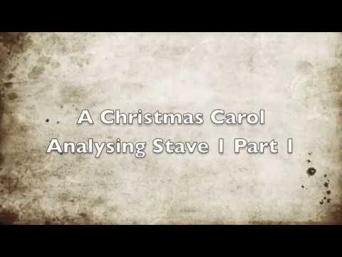 A Christmas Carol Analysis - Stave 1 Part 1 - YouTube