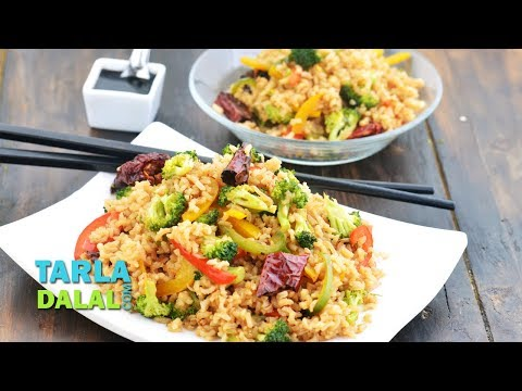 Healthy Broccoli Fried Rice Recipe By Tarla Dalal