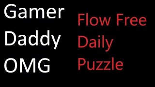Flow Free Daily Puzzle - Tuesday, October 16, 2018