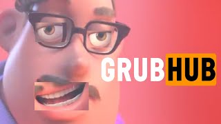 GrubHub ad but it's in reverse