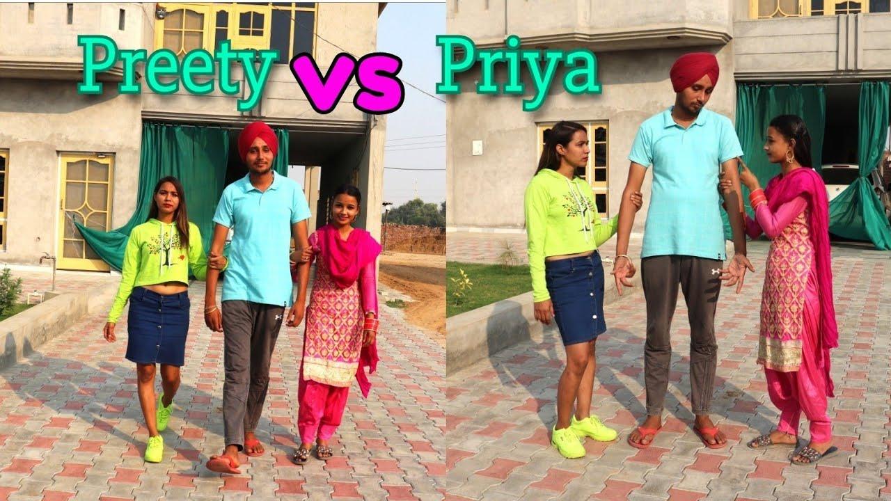 Do Sokna...Tuhanu kon Pasand hai Preety ya Priya... lao ji Aa gai Preety v gher...