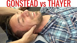 Gonstead vs Dr Thayer. Chiropractor rescues patient from surgery