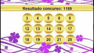 sorteio resultado lotofacil 1189 Palpite 1190