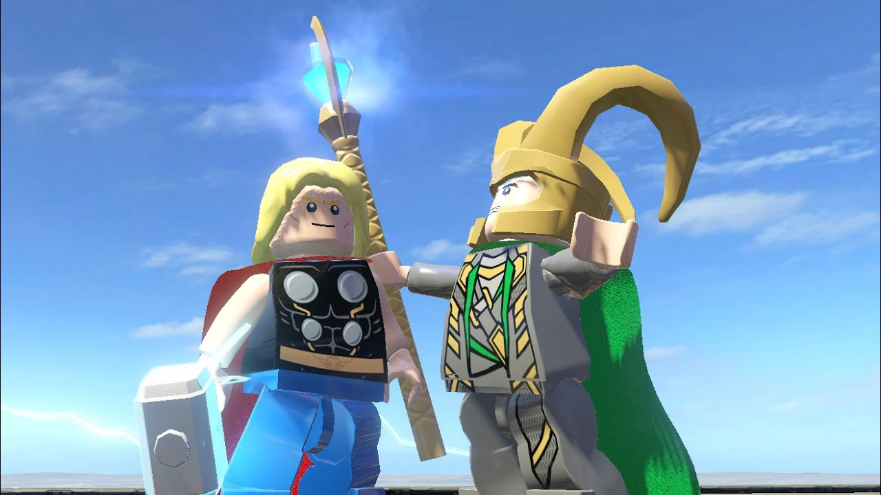 Loki Thor 2 Hair LEGO THOR VS LOKI (Bat...