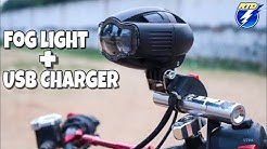 How To Install Fogg Light on Extender Mount Bracket in Any Motorcycle | techno khan