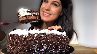ASMR | BLACK FOREST CHOCOLATE CAKE | EATING SOUNDS