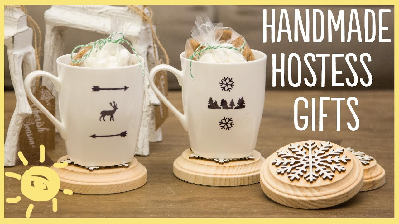 Diy sharpie mugs and easy hostess gifts youtube for Holiday party gift ideas for the hostess