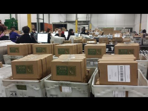 A peek inside the Mystery Tackle Box mail sorting facility on shipping day