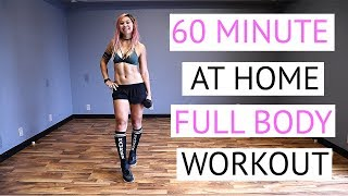 60 Minute NO REPEAT Home Workout!   FUN and EFFECTIVE Full Body Workout