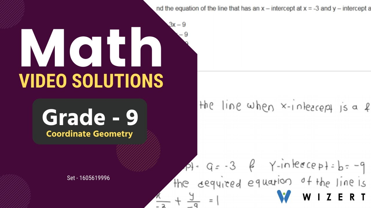 medium resolution of Math Tests And Maths Coordinate Geometry worksheets for Grade 9 - Set  1605619996 - YouTube