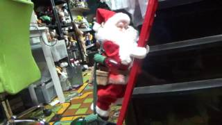 Mr. Christmas Animated: Ladder Climbing Santa