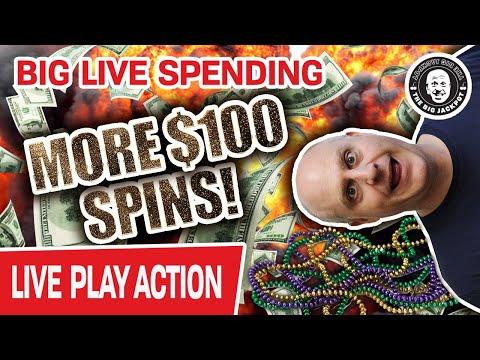 🔴 More LIVE $100 Spins 🧨 BIG Jackpot = BIG Spending